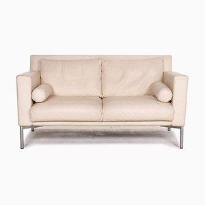 Canapé en Cuir Crème par Walter Knoll