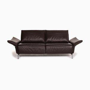 Vanda Brown Leather Sofa from Koinor
