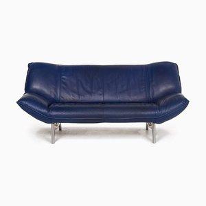 Leolux Tango Blue Leather Sofa