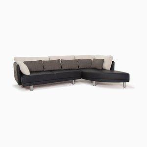 Dark Blue Leather Sofa from Brühl & Sippold