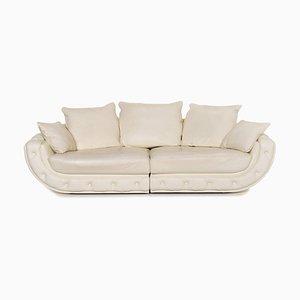 Nieri Cream Leather Sofa