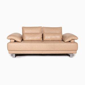 Beige Leather Sofa by Ewald Schillig