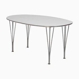 Table Super-Elliptic Blanche par Piet Hein et Bruno Mathsson, 1996
