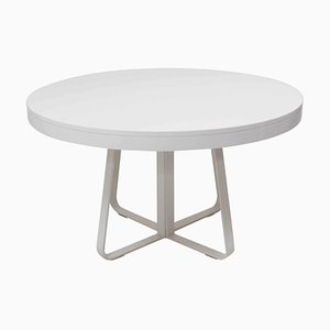 Ava White Round Extendable Dining Table by Thibault Desombre for Ligne Roset