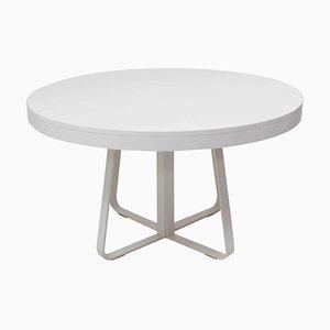 Tavolo da pranzo Ava rotondo bianco allungabile di Thibault Desombre per Ligne Roset