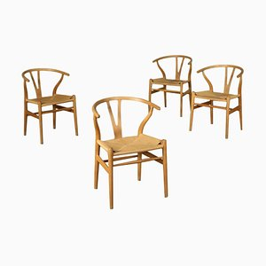 Oak Chairs by Hans Wegner, Set of 4