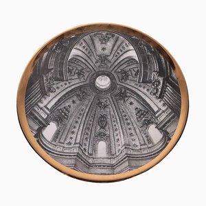 Piatto in porcellana di Piero Fornasetti