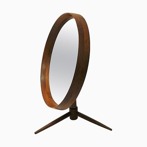 Danish Teak Flip-Top Table Mirror from Pedersen & Hansen, 1960s