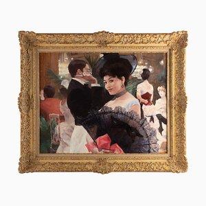 Léon Zeytline, The Lady With the Fan, Oil on Canvas
