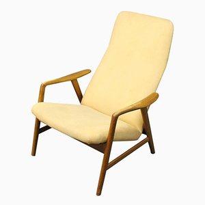 Poltrona reclinabile con schienale alto di Alf Svensson per Fritz Hansen, 1957