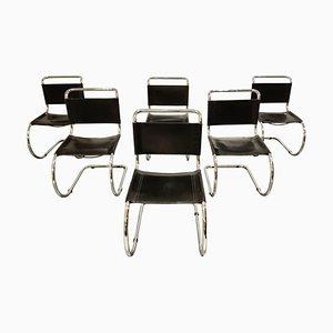 Esszimmerstühle von Mies Van Der Rohe für Knoll International, 1970er, 6er Set