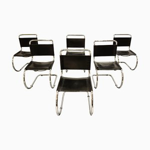 Sedie da pranzo di Mies Van Der Rohe per Knoll International, anni '70, set di 6