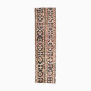 Turkish Vintage Handmade Wool Hallway Rug