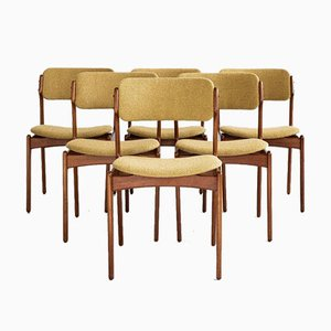 Mid-Century Danish Dining Chairs in Teak by Erik Buch for OD Møbler 1960s, Set of 6