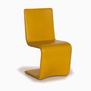 Who's Perfect Yellow Venere Stuhl aus Leder