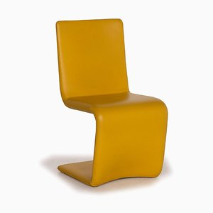 Who's Perfect Yellow Venere Leather Chair