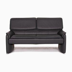 Laauser Carlos Gray Leather Sofa