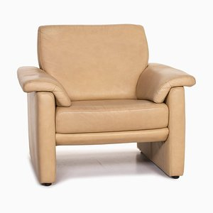 Lucca Beige Leather Armchair by Willi Schillig