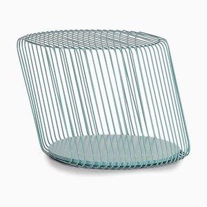 Mint Blue Zag Metall Beistelltisch von Roche Bobois