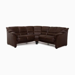 Oslo Brown Leather Corner Sofa from Stressless