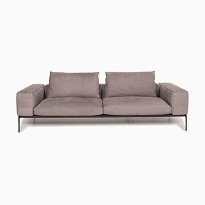 Lifesteel Gray Leather Sofa from Flexform