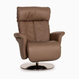 Himolla Easy Swing 7227 Brown Leather Armchair