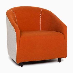 Orangefarbener Sessel von Minotti