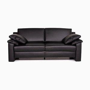 Concept Plus Black Leather Sofa by Ewald Schillig