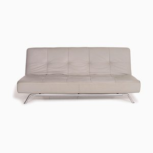 Smala Gray Leather Sofa from Ligne Roset