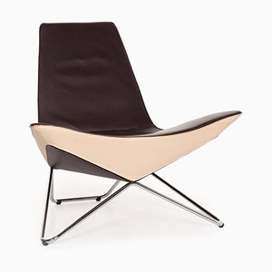 MYchair Brown Leather Armchair by Walter Knoll