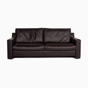 Flex Plus Dark Brown Leather Sofa by Ewald Schillig