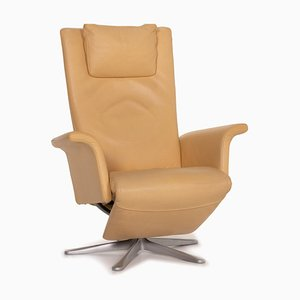 FSM Filou Beige Leather Armchair