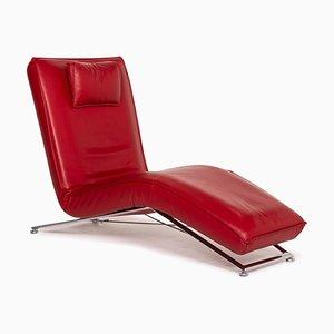 Jeremiah Tagesbett aus rotem Leder von Koinor
