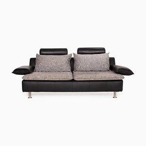 Tayo Black Leather Sofa