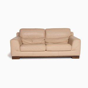 Natuzzi 2085 Beige Leather Sofa