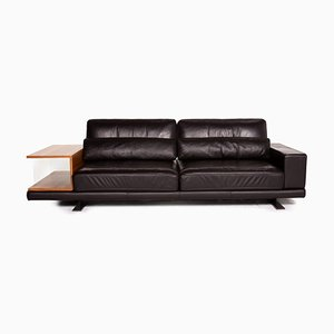 Vero Dark Brown Leather Sofa by Rolf Benz