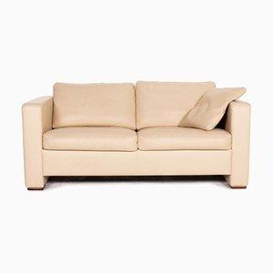 Beige Leather Sofa from Machalke