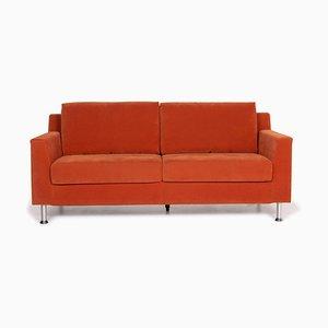 Orange Fabric Sofa by Ewald Schillig