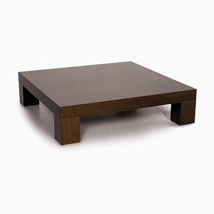 Brown Wooden High Gloss Coffee Table from Minotti