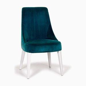 Maxalto Stuhl aus türkisblauem Samt von B & B Italia