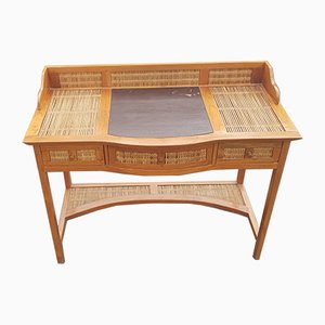 Vintage Wooden Bamboo Writing Desk