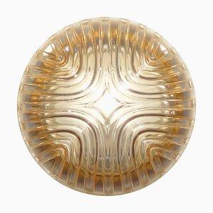 Lampe aus Bronze & Riffelglas, 1960er