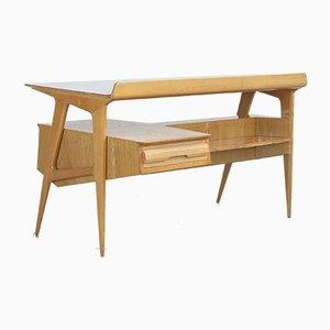 Italienischer Ahorn Schreibtisch mit Bücherregal von Canturina del Mobile, 1950er
