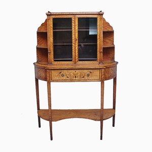 Satinwood Display Cabinet, 1800s