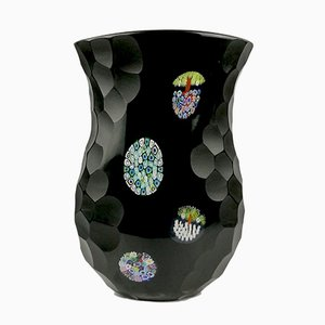 Blown Vase with Lady in Murano Glass by Valter Rossi for Vrm