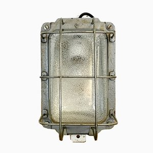 Industrial Cast Iron Wall Lamp from Polam, 1960s
