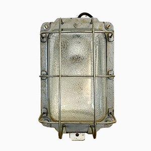 Industrielle Gusseisen Wandlampe von Polam, 1960er