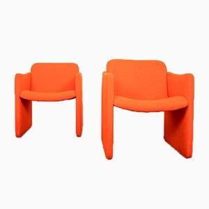 Vintage Orange Lounge Chairs from Emmegi, 1980s, Set of 2