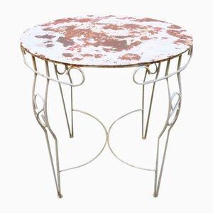 Tavolo da giardino in ferro verniciato, anni '50
