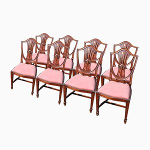 Hepplewhite Style Dining Chairs, 1960s, Set of 8